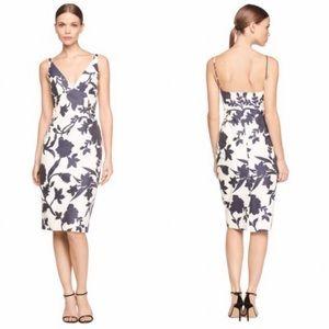 Milly Liz Floral Printed Sheath Dress Blue White